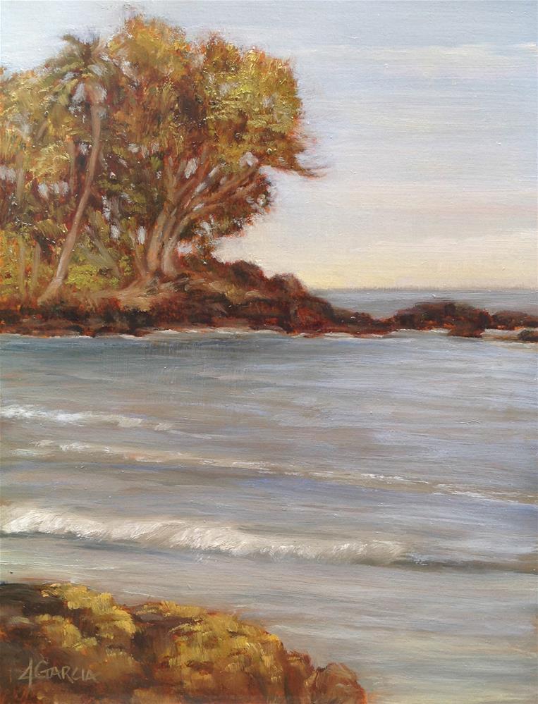 """Lymans Bay"" original fine art by Jeannie Garcia"
