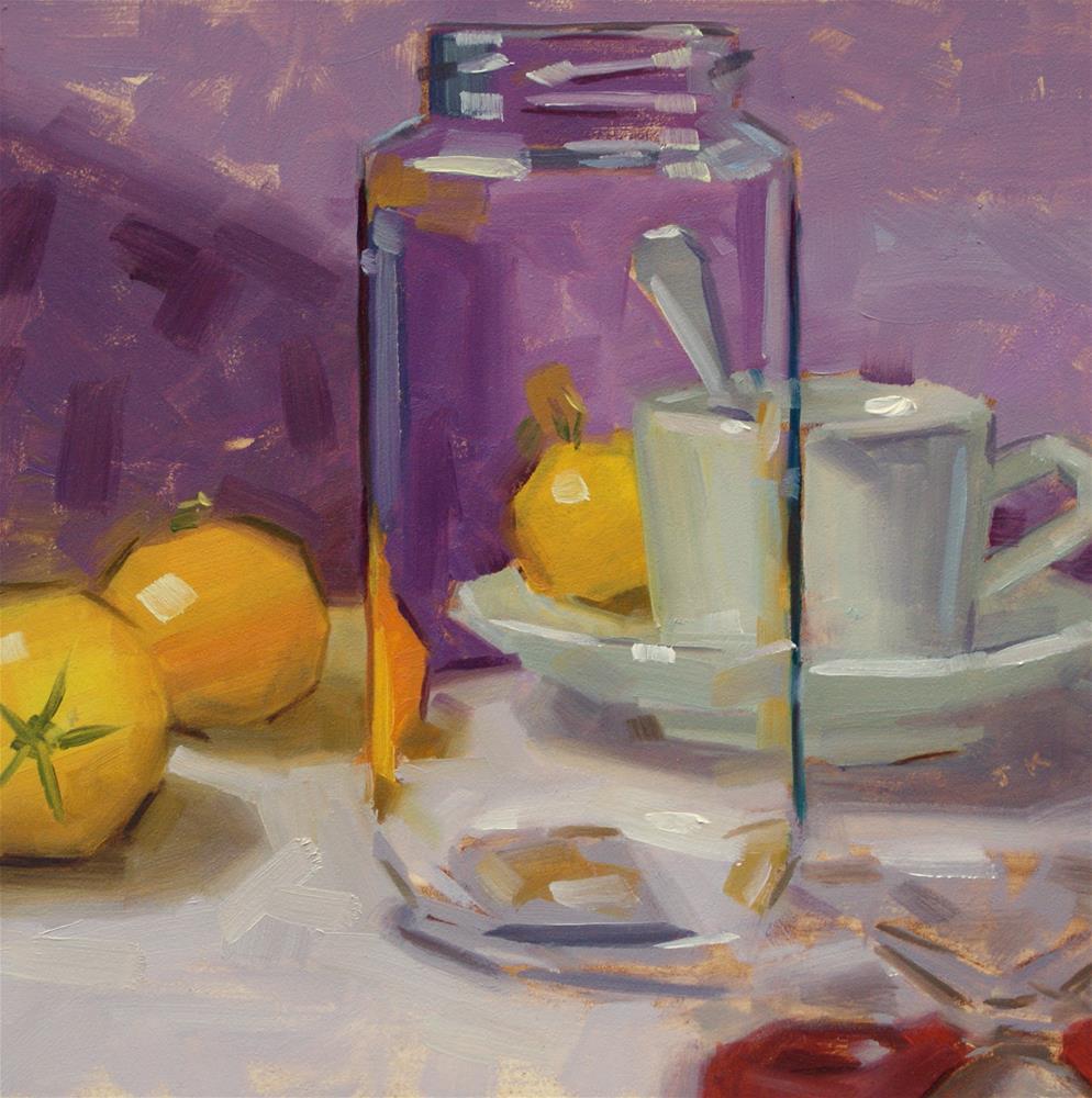 """Behind the Jar"" original fine art by Jiyoung Kim"