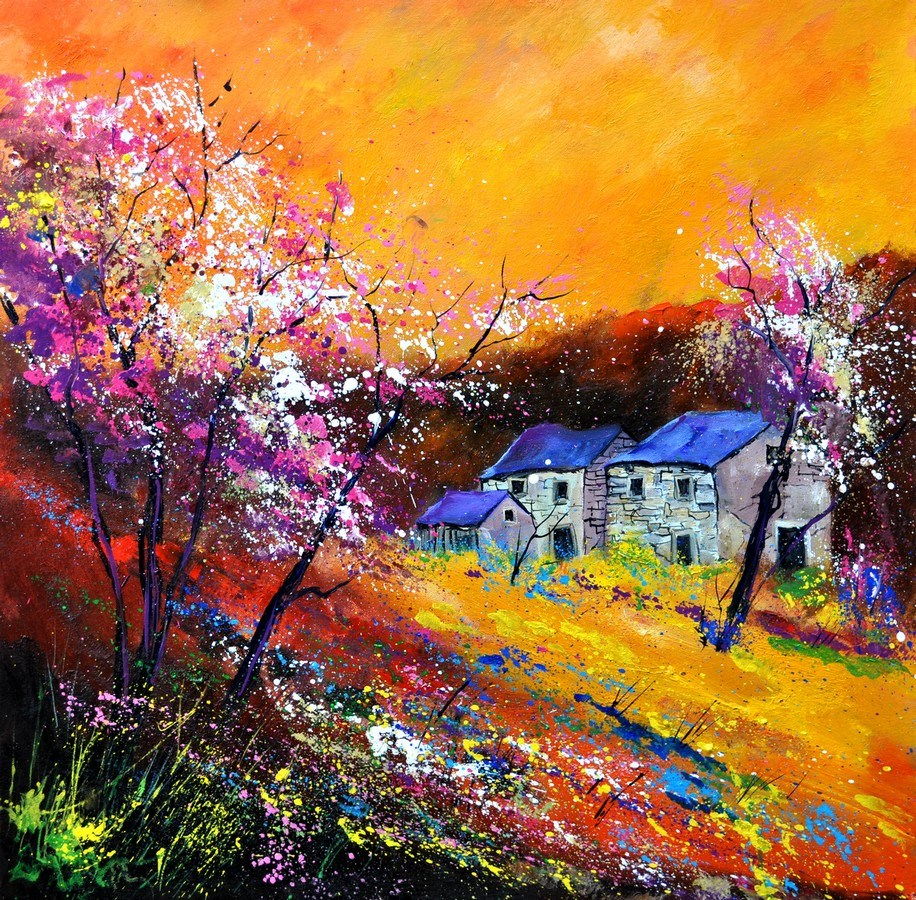 """spring 883111"" original fine art by Pol Ledent"