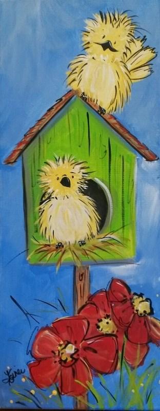 """""""Birdies II"""" original fine art by Terri Einer"""