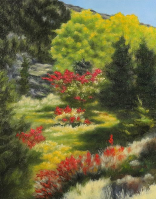 """Oasis of Beauty"" original fine art by Carol Zirkle"