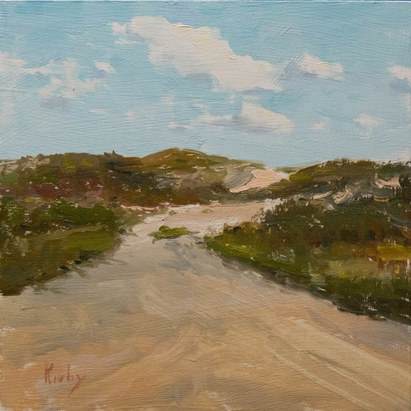 """Clouds over Dunes"" original fine art by Randall Cogburn"