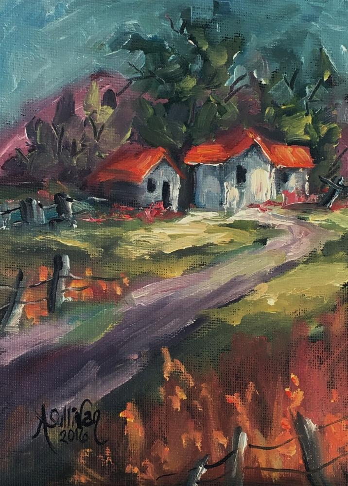"""The Old Home Place landscape painting by Alabama Artist Angela Sullivan"" original fine art by Angela Sullivan"