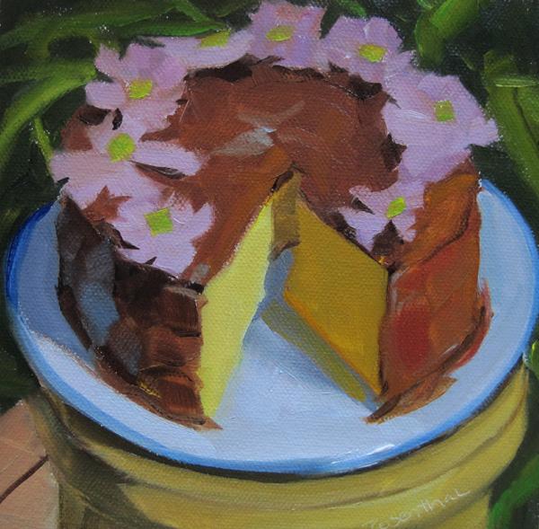"""Carolyn's Cake"" original fine art by Robin Rosenthal"