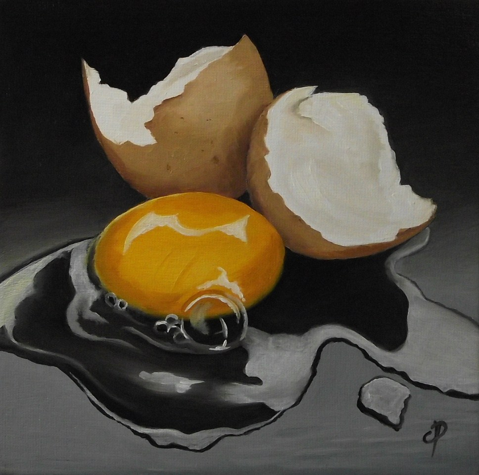 """Egg!"" original fine art by Jane Palmer"