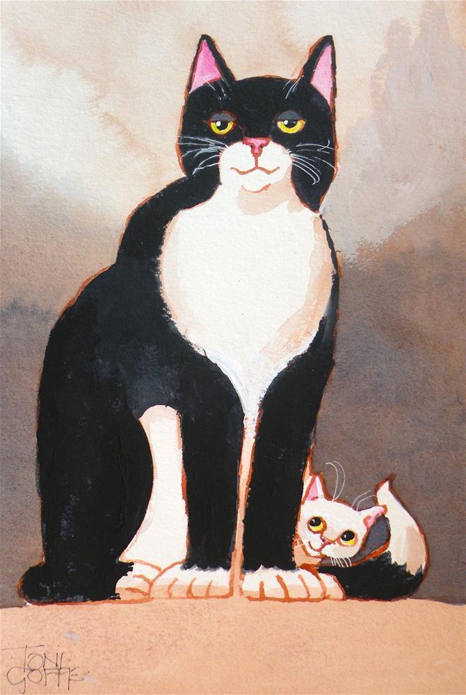 """That's My Dad"" original fine art by Toni Goffe"