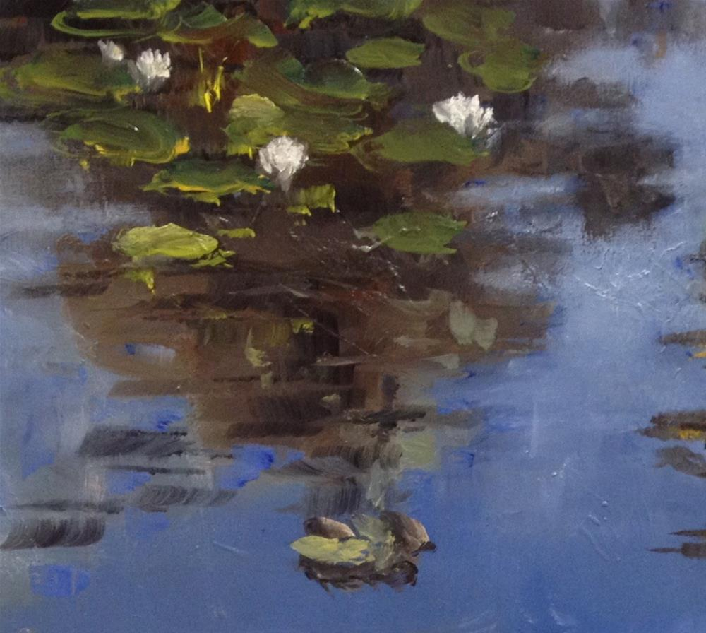 """Plein Air Water Lilies"" original fine art by Gary Bruton"