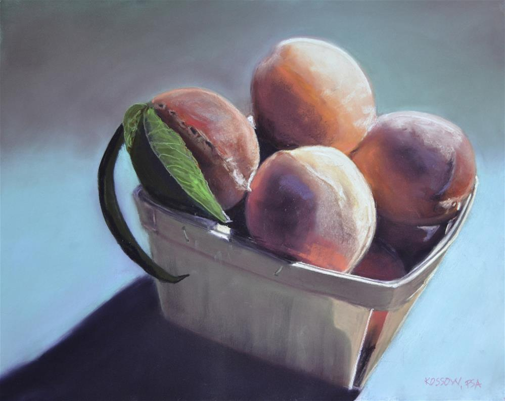 """Independence Peaches"" original fine art by Cristine Kossow"