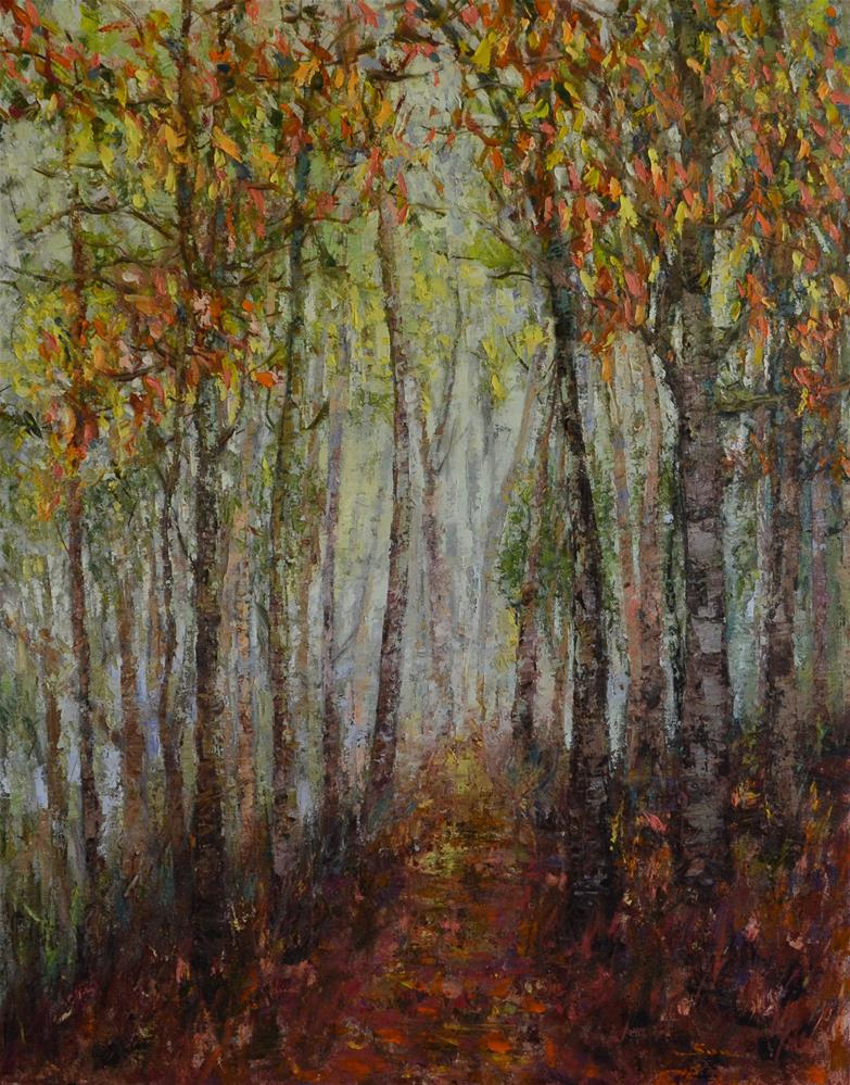 """""""Morning in the wood"""" original fine art by Sun Sohovich"""