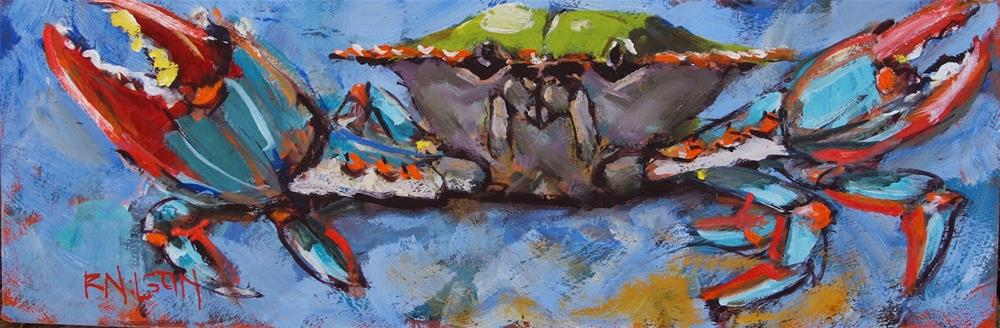"""A Long and Narrow Crab"" original fine art by Rick Nilson"