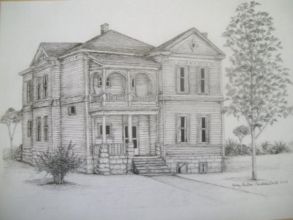 """Historic Home in Baker City"" original fine art by Amy VanGaasbeck"