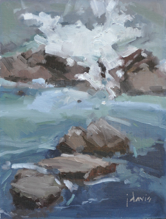 """Point Lobos Study 5"" original fine art by Julie Davis"