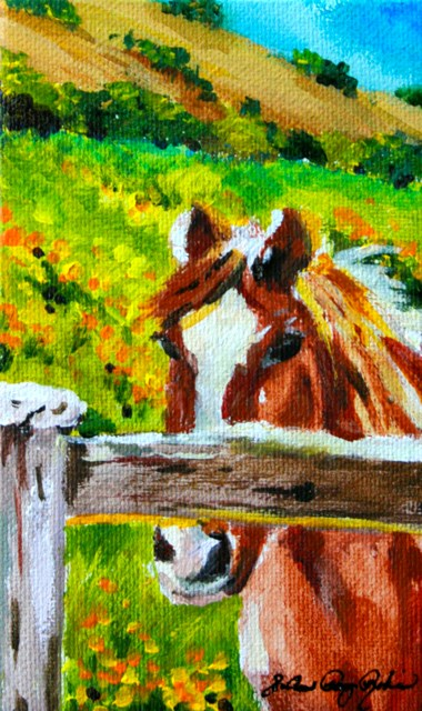 """Don't Fence Me In"" original fine art by JoAnne Perez Robinson"
