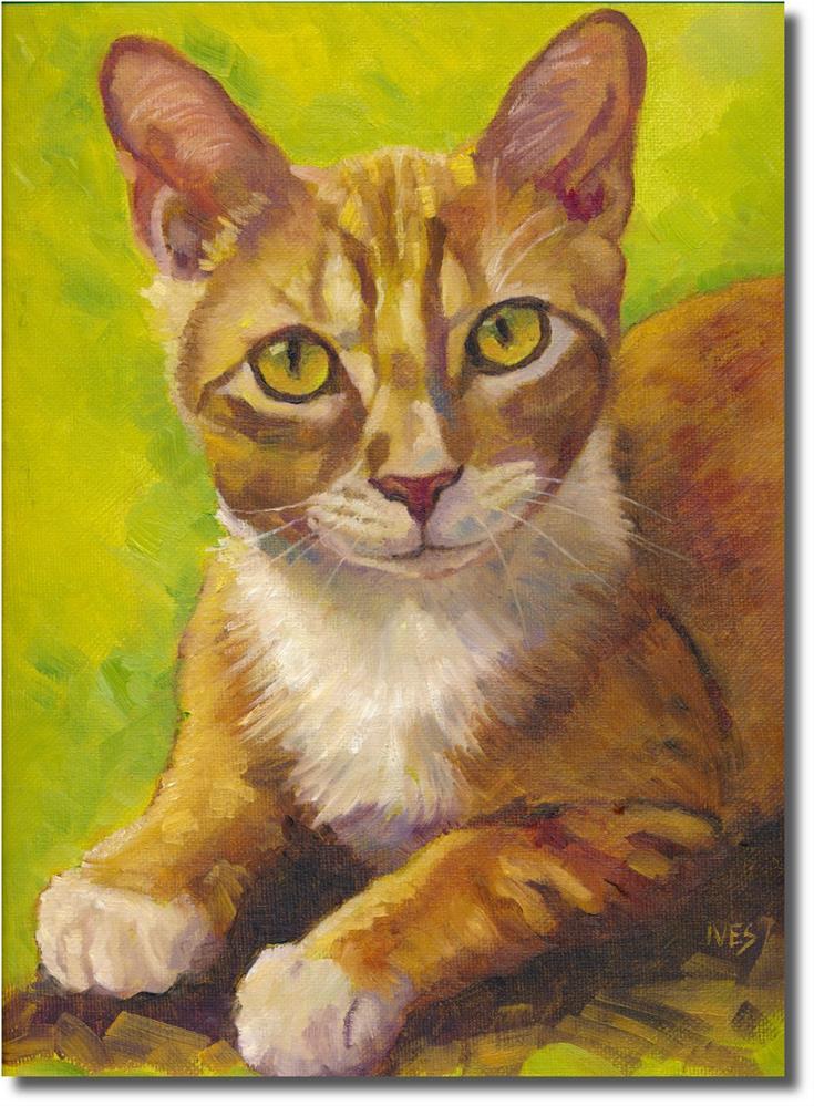 """Cooper - Orange Tabby Cat"" original fine art by Rk Ives"