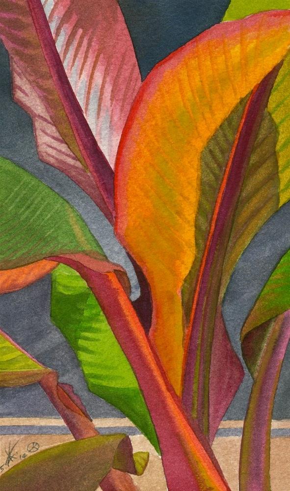 """""""Red Leaf Banana"""" original fine art by Mark Allison"""