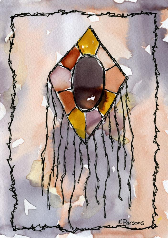 """Mosaic Mirror with Strands Below"" original fine art by Kali Parsons"