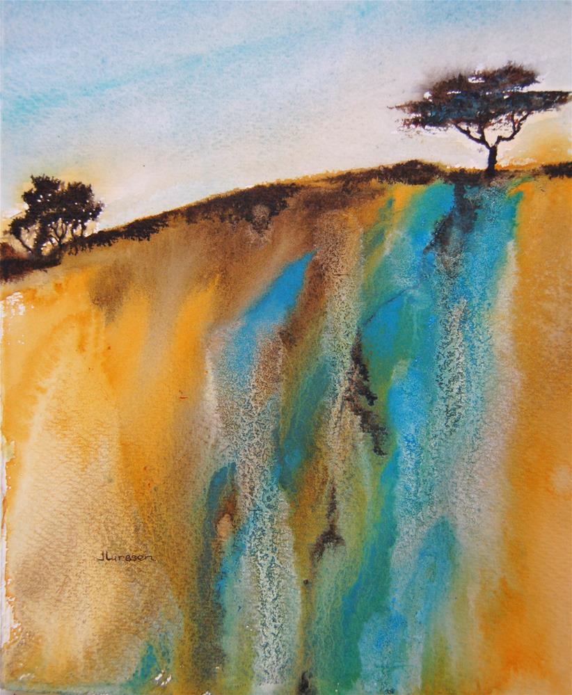 """Down The Hill"" original fine art by Jean Lurssen"