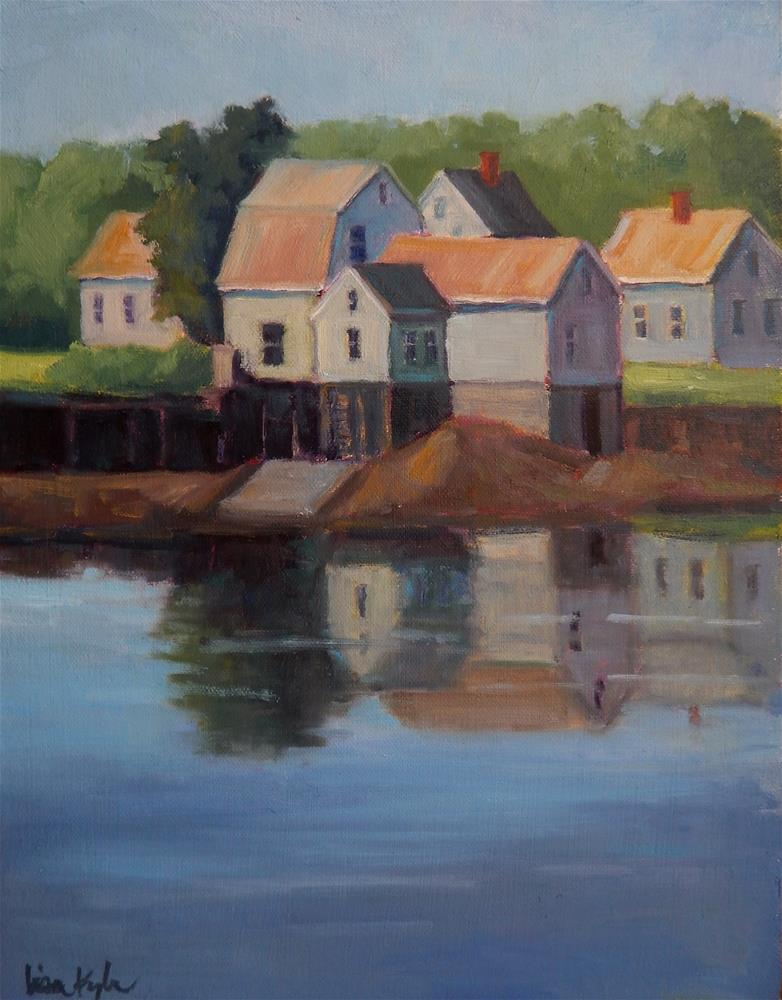 """Reflections at Low Tide"" original fine art by Lisa Kyle"