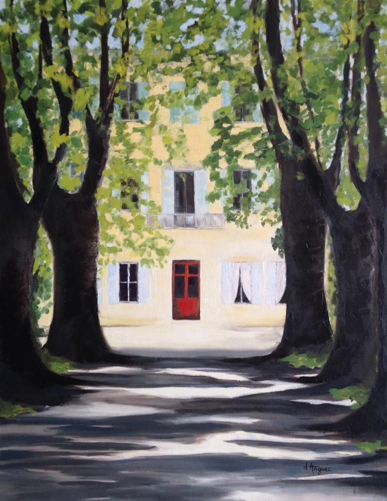 """Chateau des Alpilles"" original fine art by Karen D'angeac Mihm"
