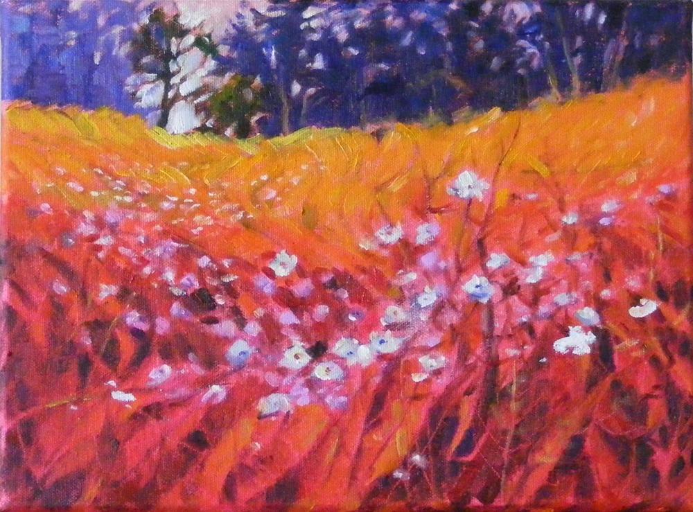 """""""Wildflower I"""" original fine art by Celine K.  Yong"""
