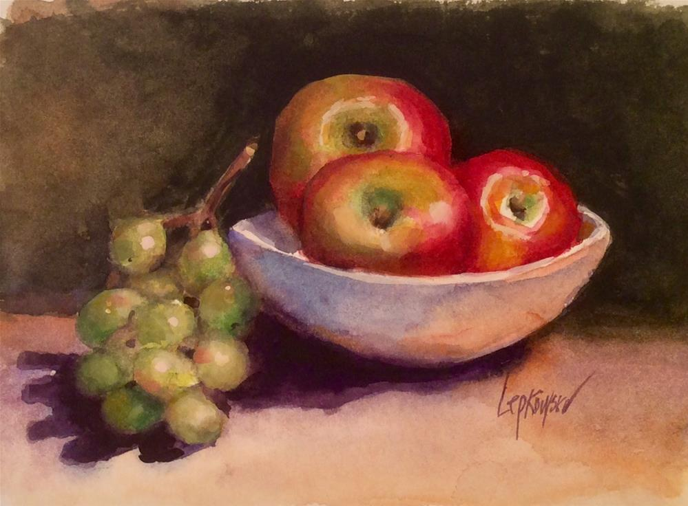 """Apples and Grapes"" original fine art by Laurie Johnson Lepkowska"