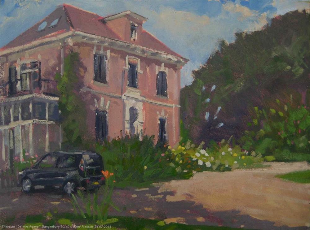 """Theetuin ""De Westhoeve"" Slangenburg, The Netherlands."" original fine art by René PleinAir"