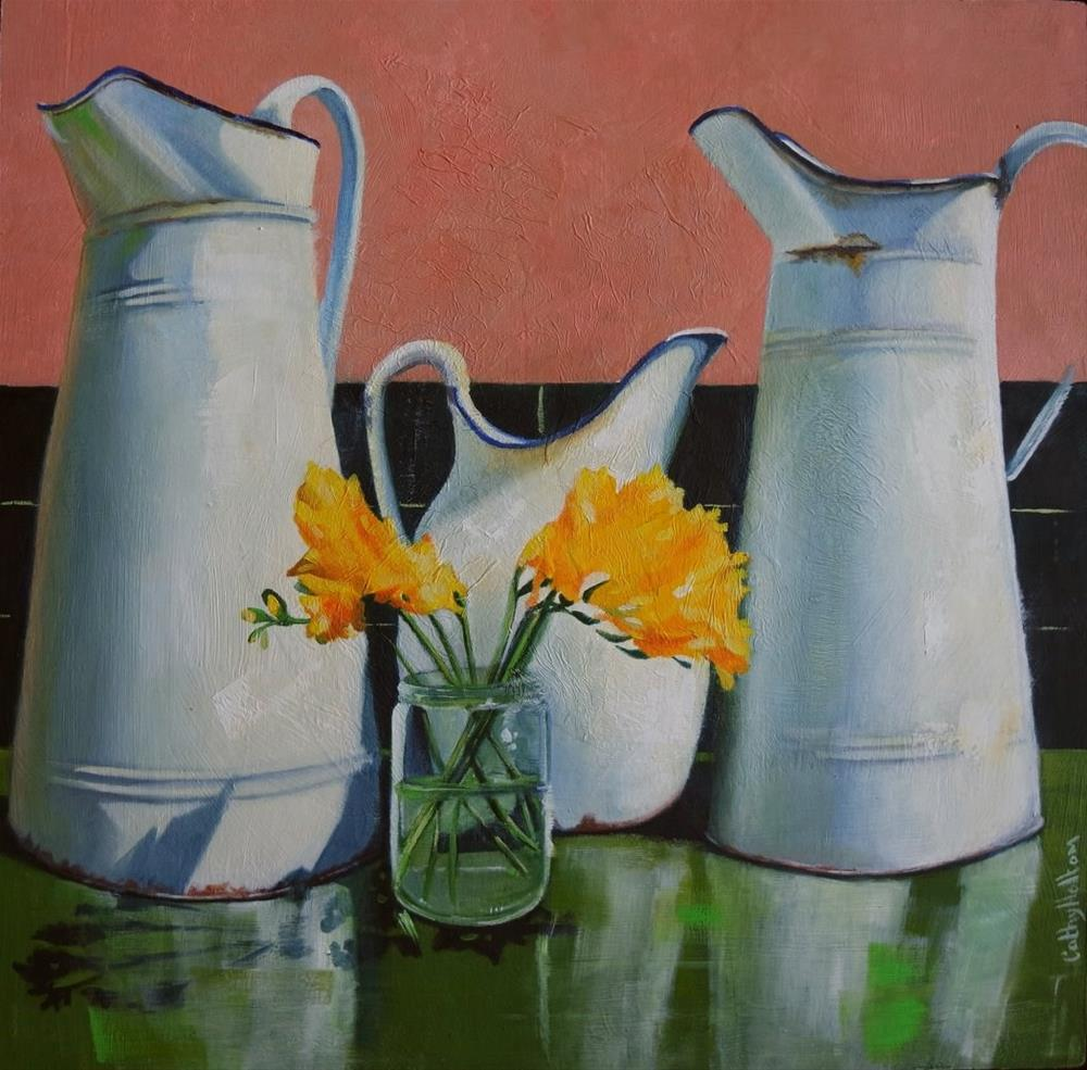 """Pitchers"" original fine art by Cathy Holtom"