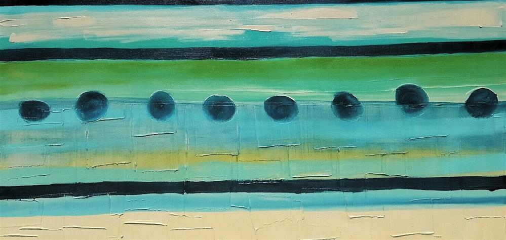 """Aqua 2"" original fine art by Christy Tremblay"