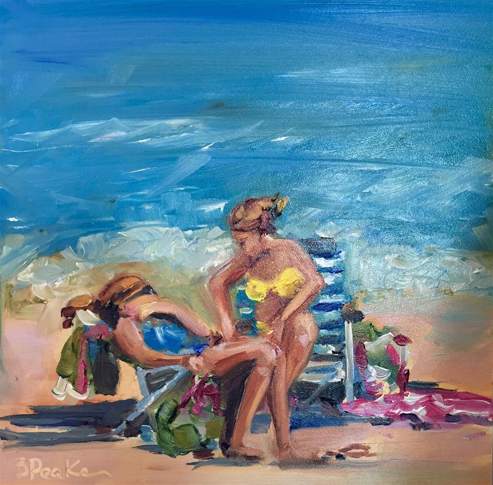 """""""Beach talk"""" original fine art by Brenda Peake"""