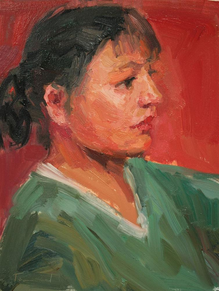 """Portrait Study #2"" original fine art by Kathryn Townsend"