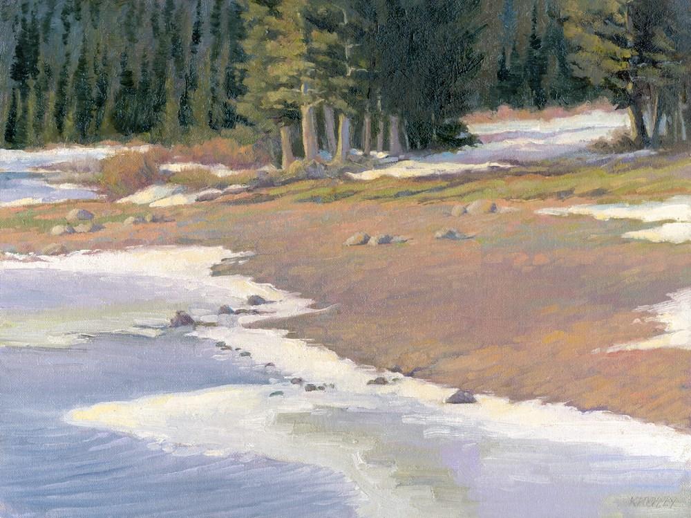 """Lakeshore"" original fine art by Kath Reilly"