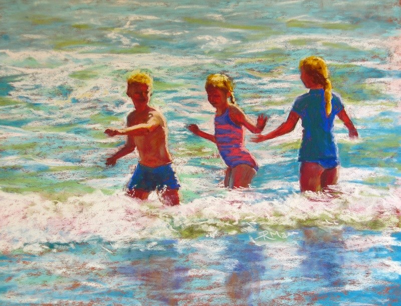 """Riding the Wave"" original fine art by Ruth Mann"