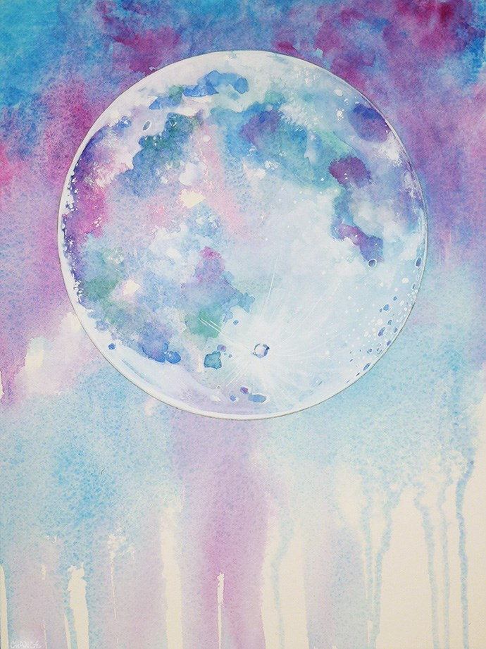 """No. 40 Moon"" original fine art by Annabel Chance"