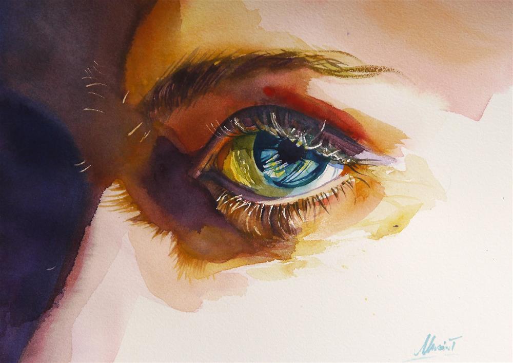 """I'm watching you"" original fine art by Beata Musial-Tomaszewska"