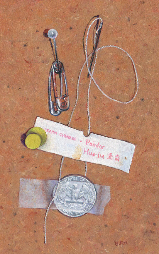 """TROMPE L'OEIL  oil painting"" original fine art by Barbara Fox"