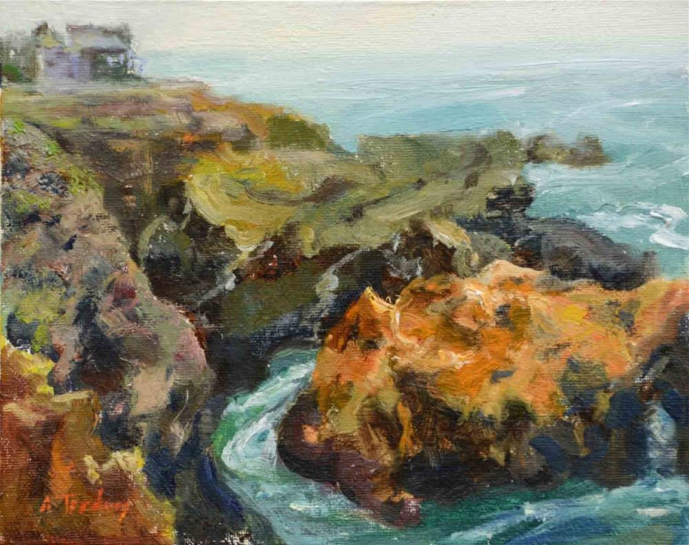"""Shelter Cove Bluffs"" original fine art by alicia tredway"