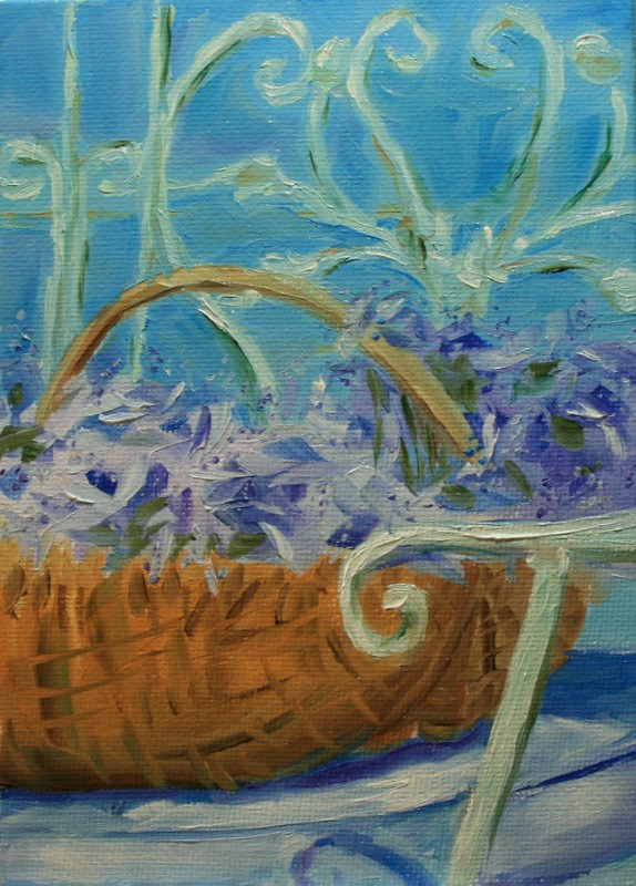 """French Lavender"" original fine art by Jean Nelson"