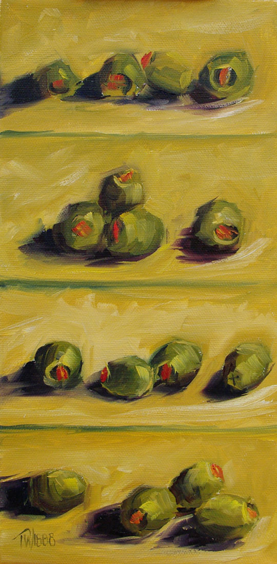 """Green Olives 1"" original fine art by Lori Twiggs"