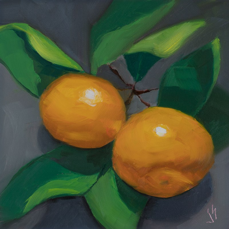 """Tangerine Tango"" original fine art by Johnna Schelling"