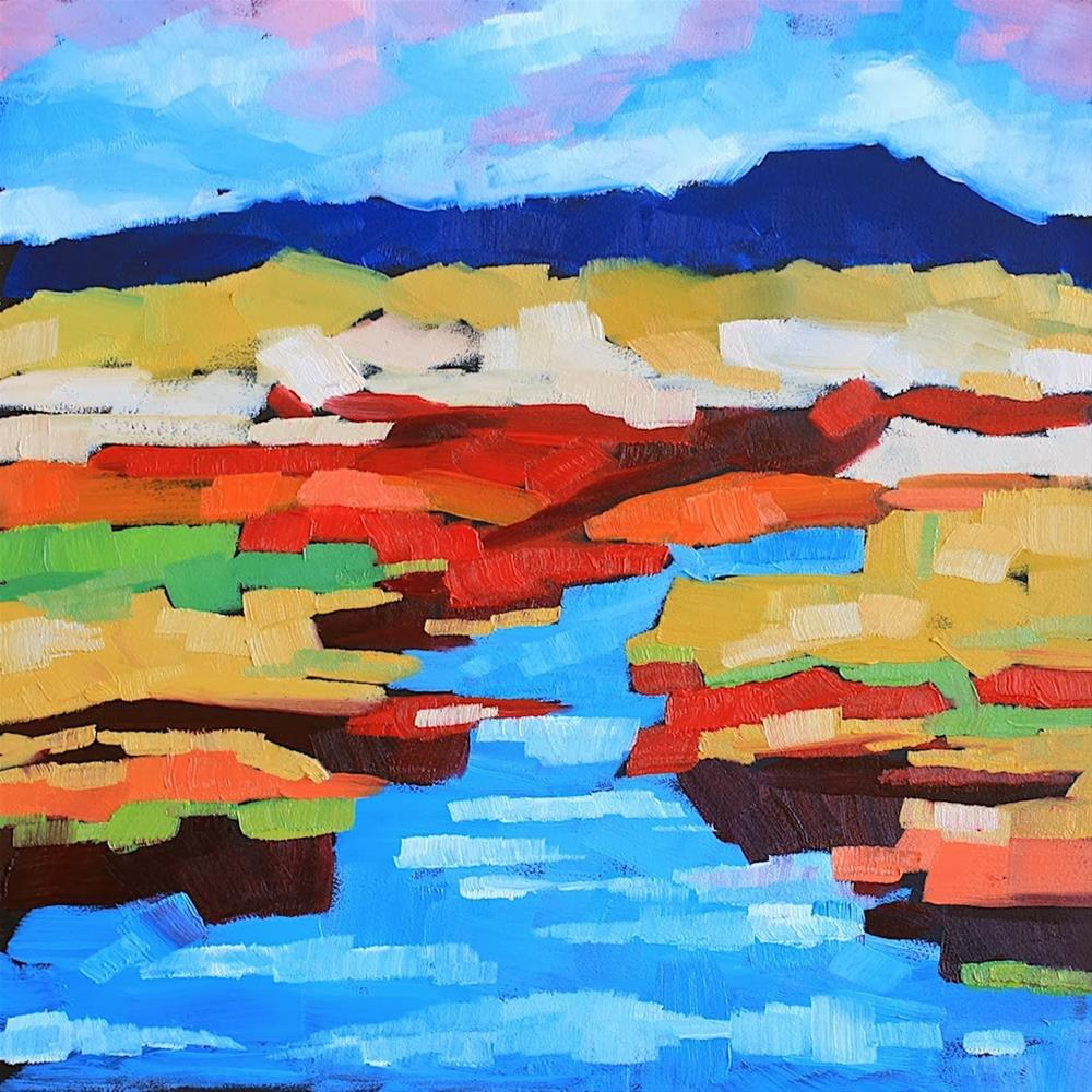 """Fall on the Marsh 2"" original fine art by Mary Anne Cary"