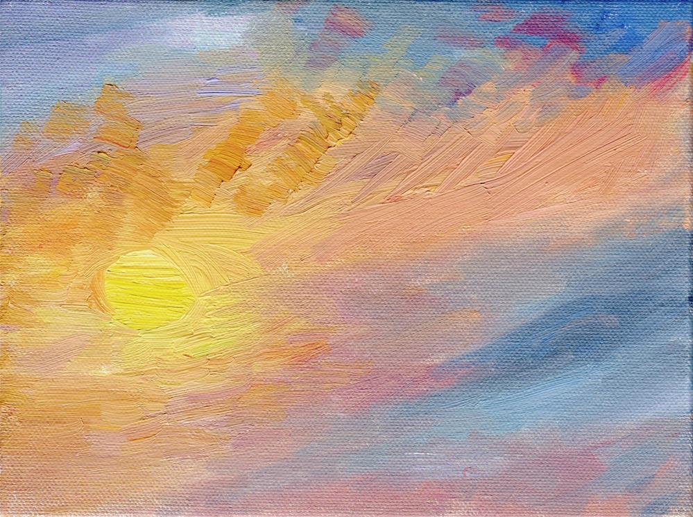 """WINTER SUNRISE III"" original fine art by Karen E Lewis"
