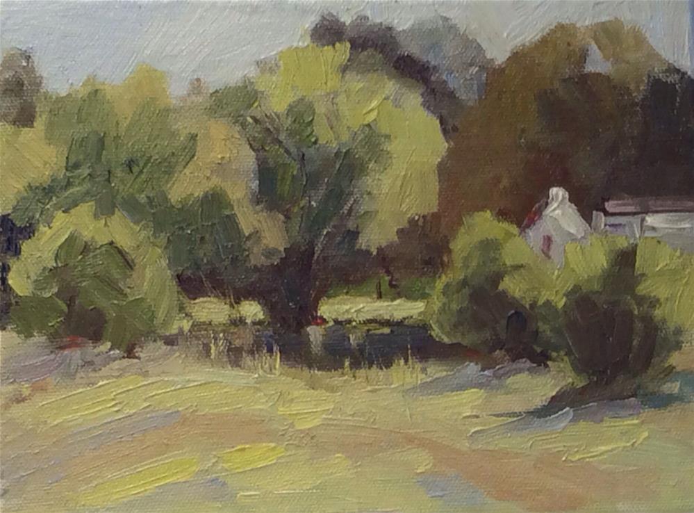 """""""Spring Greens Study"""" original fine art by Debbie Dowdle"""