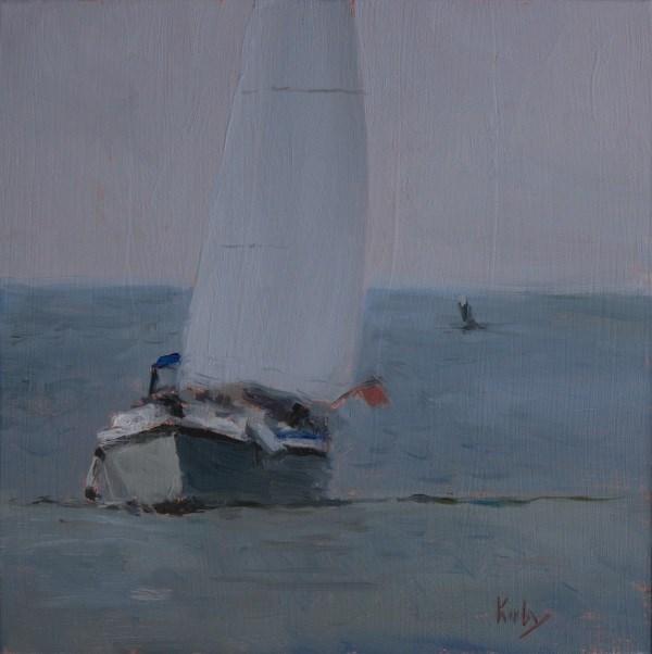 """Sailing in Fog"" original fine art by Randall Cogburn"