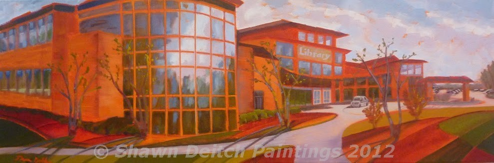 """Carmel Library"" original fine art by Shawn Deitch"