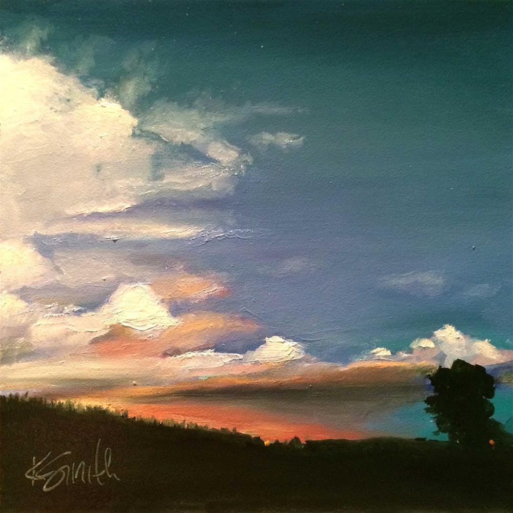 """good evening"" original fine art by Kim Smith"