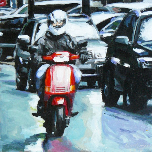 """088 Scooter"" original fine art by Anja Berliner"