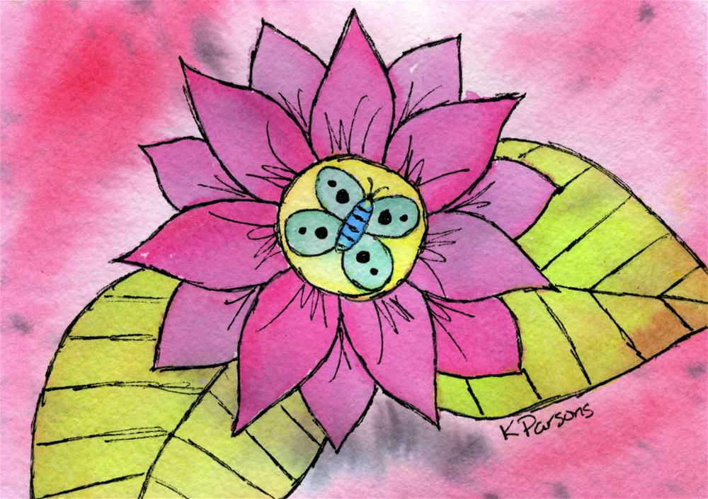 """Nectar Treat"" original fine art by Kali Parsons"