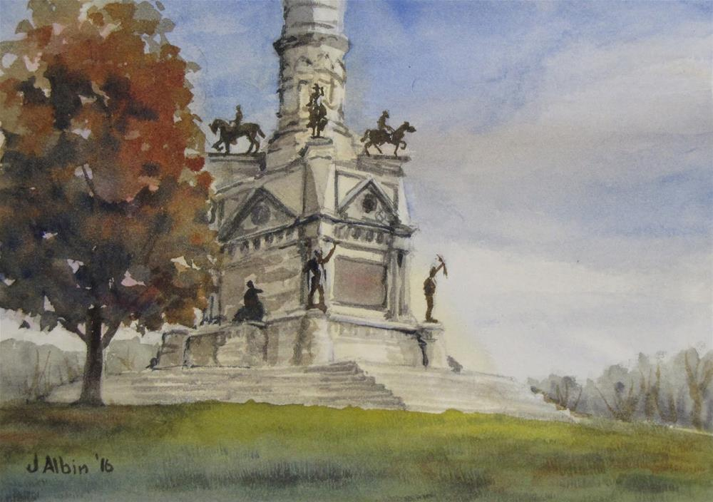 """Iowa State Soldiers' and Sailors' Monument"" original fine art by Jane Albin"