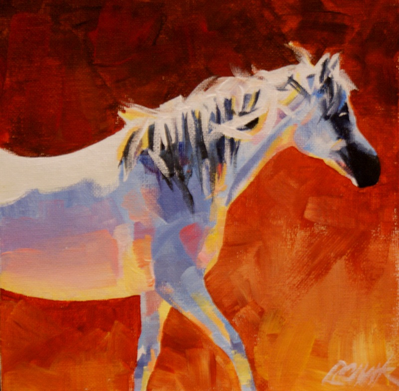 """Rising Dust"" original fine art by Crystal Cook"