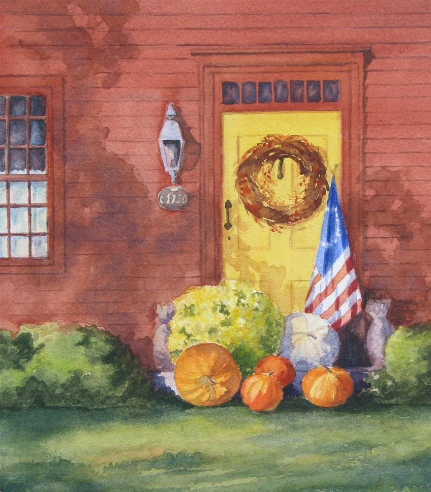 """The Yellow Door"" original fine art by Vikki Bouffard"